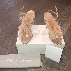 Manolo Blahnik Fur Sandal